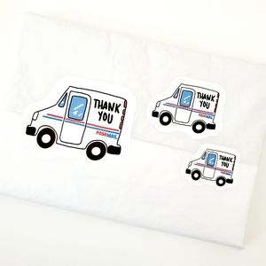 LB029 USPS Truck Thank You Sticker [Price Firm]